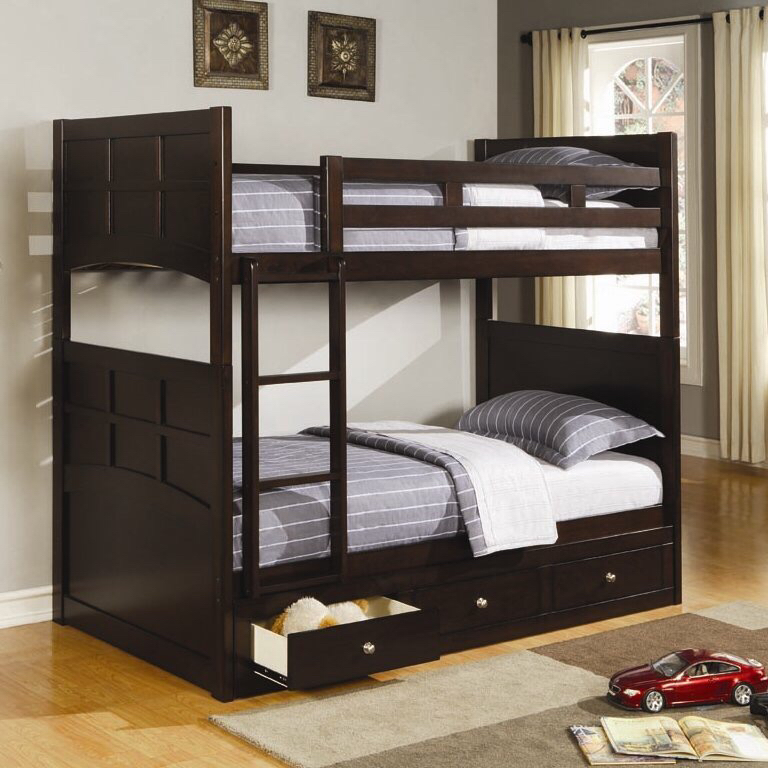 High quality bedroom furniture set twin wooden loft bunk <strong>bed</strong> for kids
