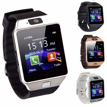 2019 Black Electronic Wrist Watches Digital Fitness Bracelet dz09 Touch Smartwatch Android