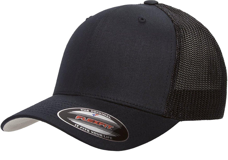 4e320f81305840 Get Quotations · 6511 Flexfit Trucker Mesh Cap w/ THP No Sweat Headliner  Bundle Pack