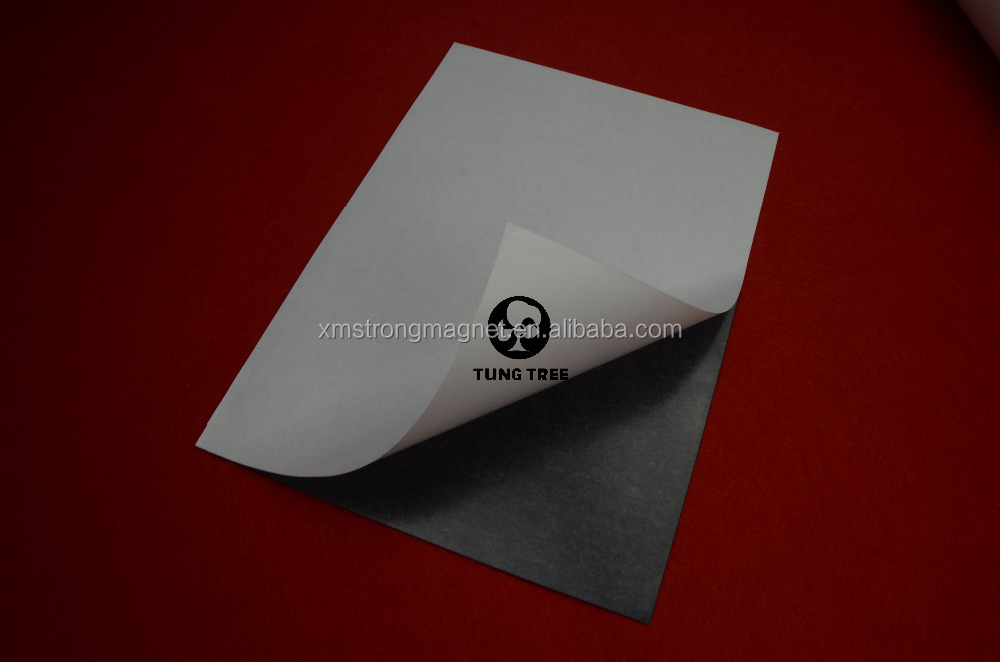 Rubber Magnet Self Adhesive Flexible Magnetic Sheet A4 Size 0.5mm Photo Paper Magnetic