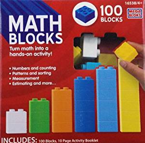 Mega Bloks Math Blocks, 100 pieces by Mega Brands