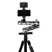 Camera Slider with Panning and Linear Motion 4x Distance for Go Pro Action Cameras Smartphone DSLR Video Recording