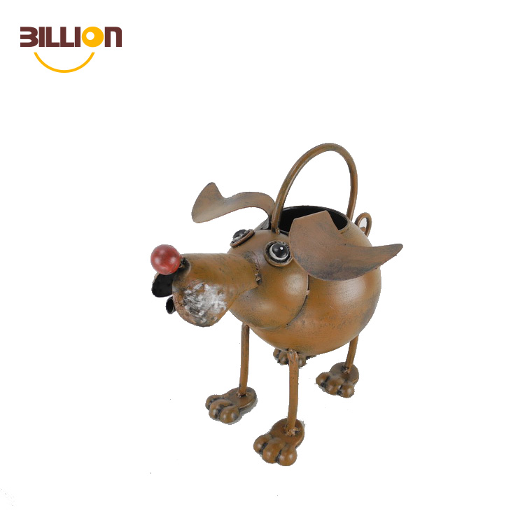 Best Sale Wrought Iron Antique Garden Dog Shaped Watering Can