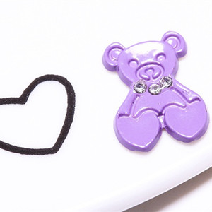 JPStrass , Bear Shaped With Rhinestone Hot Fix Metal Studs For Crystal Decoration Alloy Metal Rhinestuds