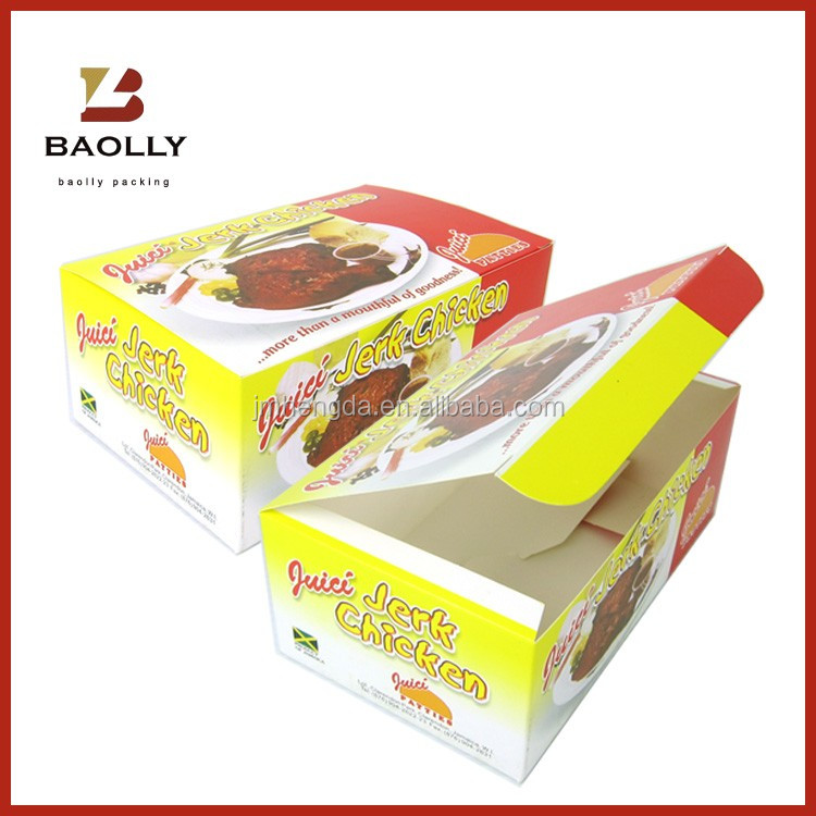 Fast Food Packaging Paper Box Fried Chicken Box