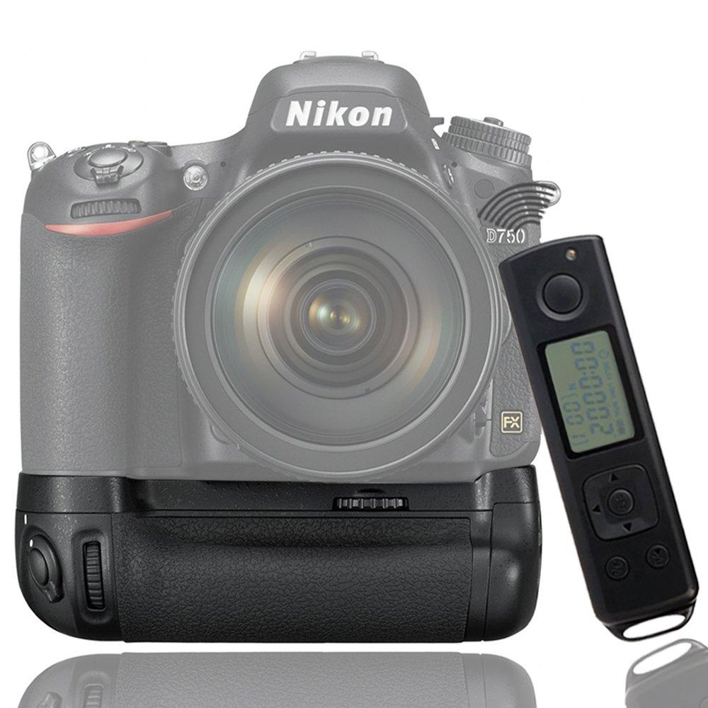 Mcoplus BG-DR750 Vertical Battery Grip Built-In 2.4G Wireless Control for Nikon D750 DSLR Camera as MB-D16 MK-DR750 Work with EN-EL15 Battery