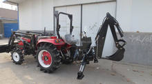 weifang CP machinery agricultural equipment 40 HP 4x4 compact tractor with loader and backhoe