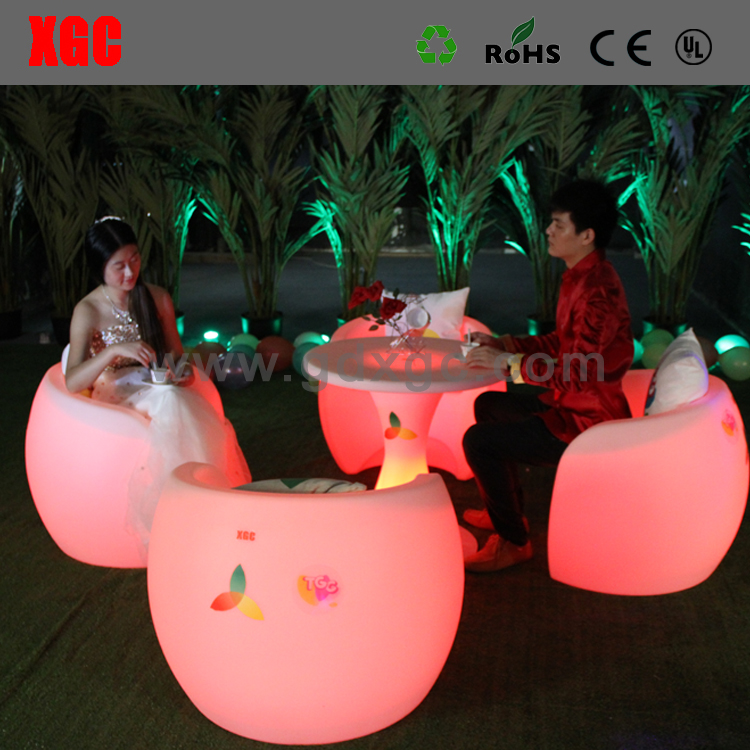 Restuarant Illuminated Deck Chair Outdoor Coffee Shop Chairs Lightweigt Plastic Rest Chair