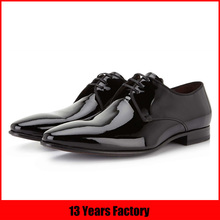 top quality patent leather man wedding shoe