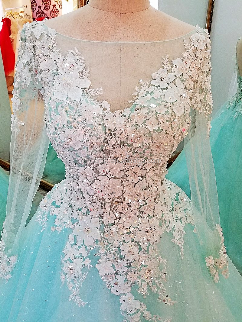 El052 Beautiful Ball Gown Indian Long Sleeve Prom Dresses Made In ...