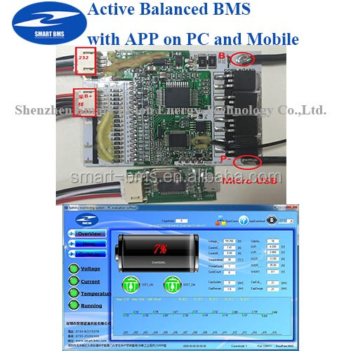Smart Active Bms With App Balanced Bms Battery Management System ...