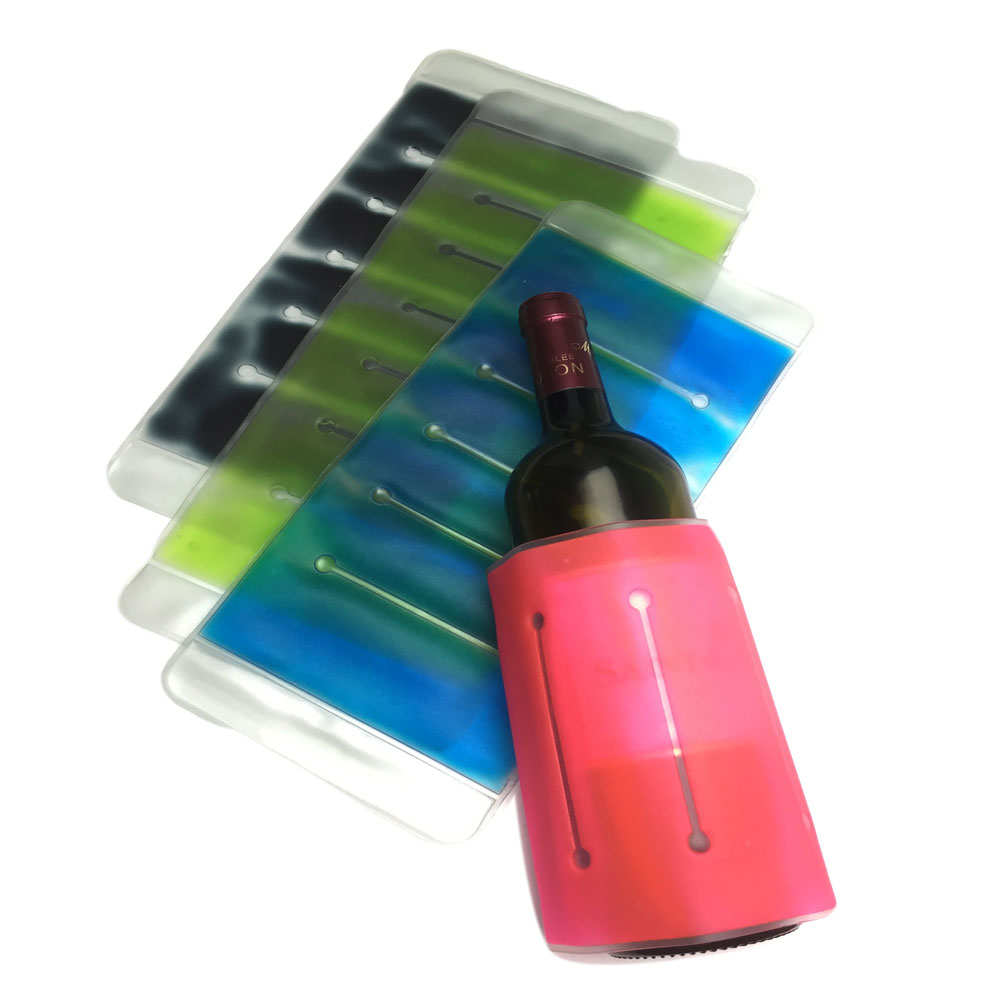 Portable wine and beverage bottle cooler ice pack gel magic hot cold beer cooler pack