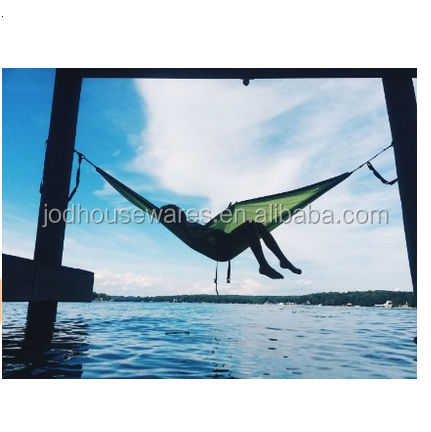 Custom Outdoor Folding Hammock With Canopy, Dries Quickly Outdoor Hanging Bed, Parachute Fabric Hammock