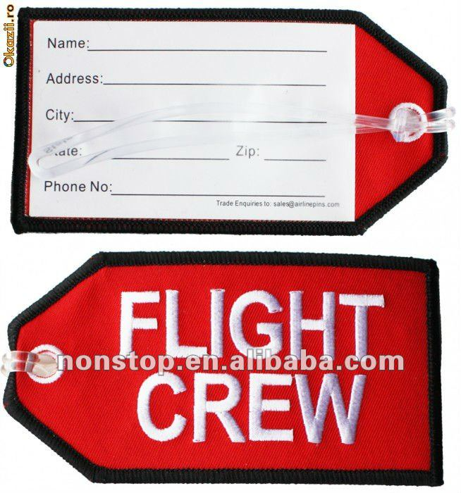 Embroidered Flight Crew Bag Tag Embroidery Product On Alibaba