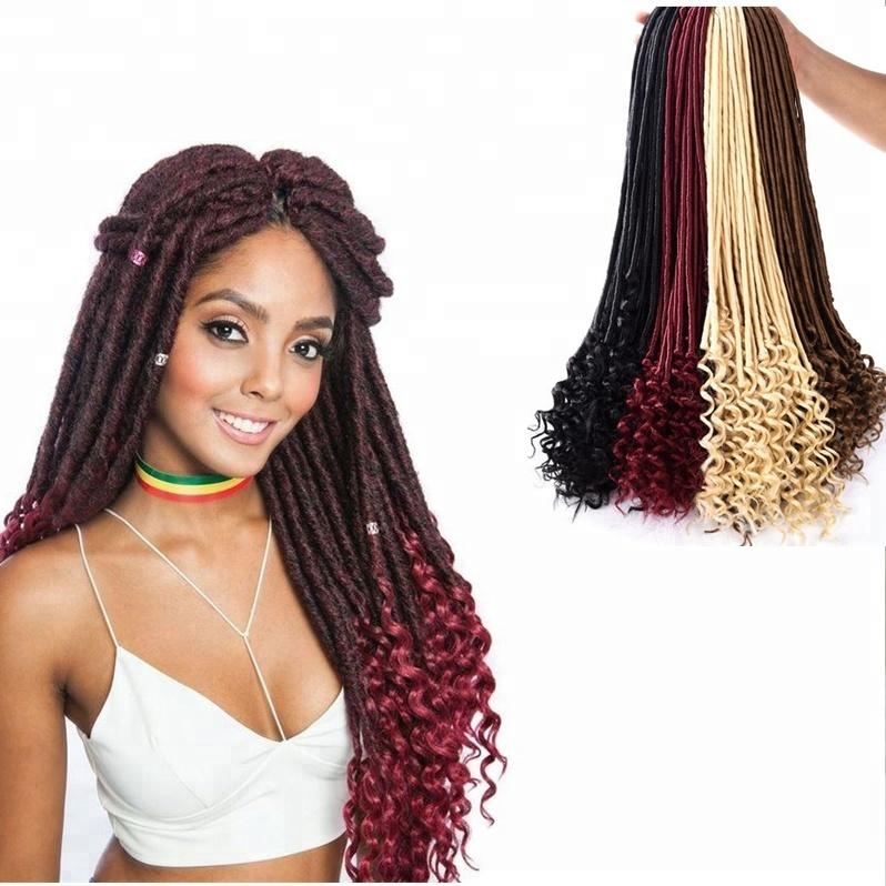 Zshair Bohemian Yaki Staight Faux Goddess Locs Crochet Hair 20inch