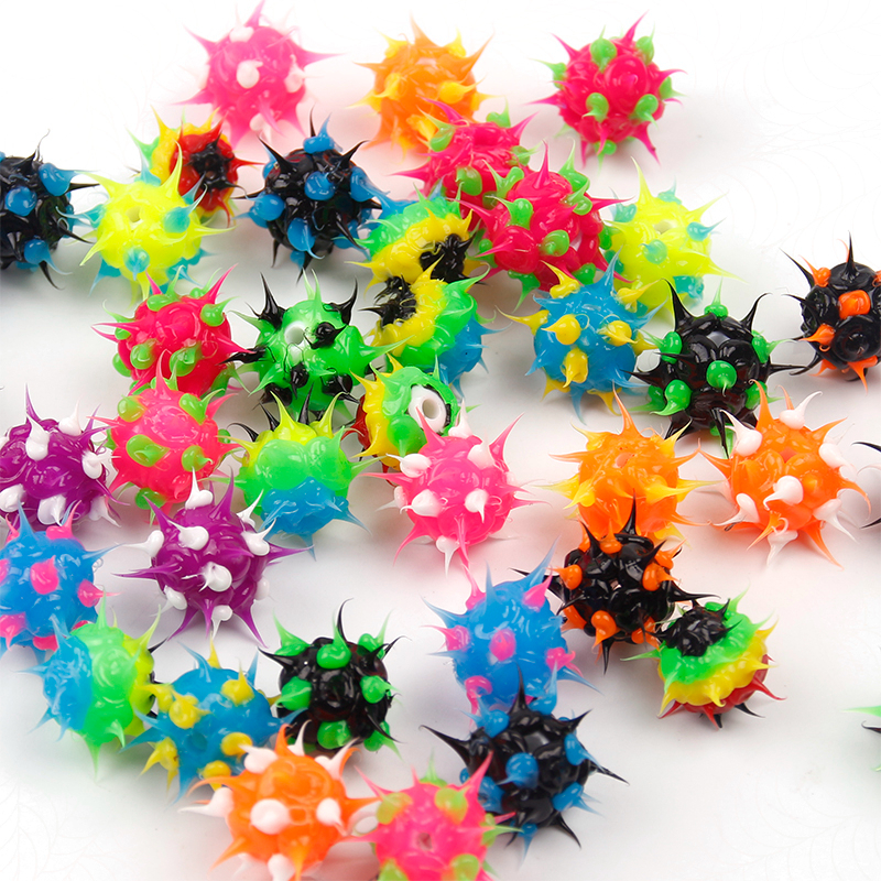 Spiky Silicone Rubber Beads Silicone Teething Beads For Bracelet Making