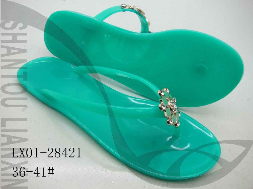 2015 Jelly Shoes Pvc Lady Slipper Beach Shoes