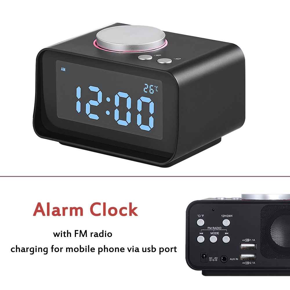 <strong>Fashional</strong> FM Type and Rechargeable Alarm Clock Radio With Temperature
