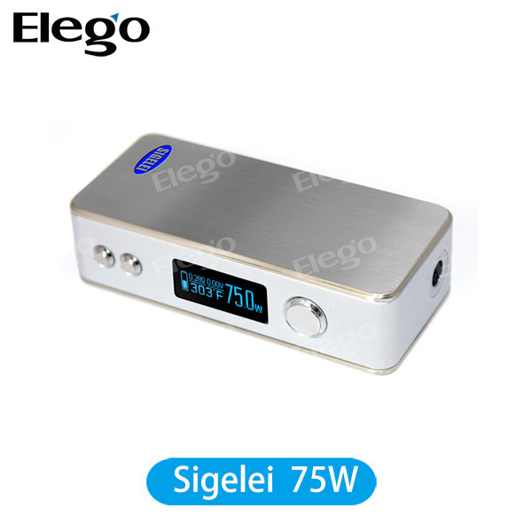 Sigelei Latest Temperature Control VW/VV Box Mod Sigelei 75W/Sigelei 75 Watt Match with Subtank Mini Bell Cap