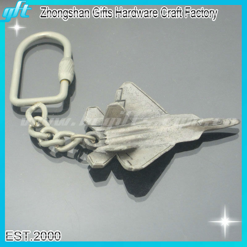 Customized metal airplane keyring, cheap airplane key holder,old airplane keychain