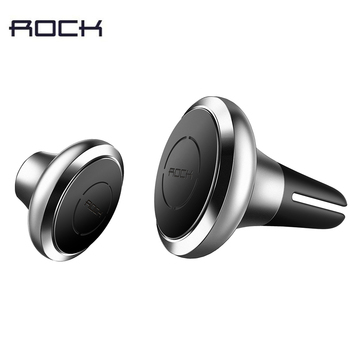 ROCK Universal Magnet Car Phone Holder Air Vent Outlet Rotatable Mount Magnetic Phone Holder Mobile Stand Magnet Holder