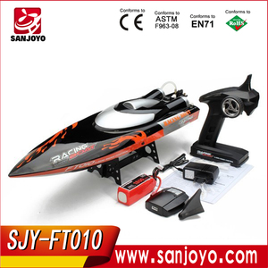 SJY-FT010 RC boat model 65 cm black 35km/h large high speed racing rc boat 2.4g electric