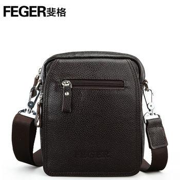09a98932ecdc Portable Small Men s Shoulder Bag Genuine Leather Sling Bag Men ...