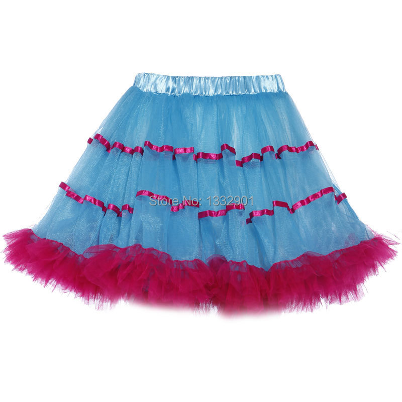 81a0116e3 Neon Rainbow RaRa Rave Burlesque Bustle Party Ruffled Tiered Tutu Skirt  Clubwear