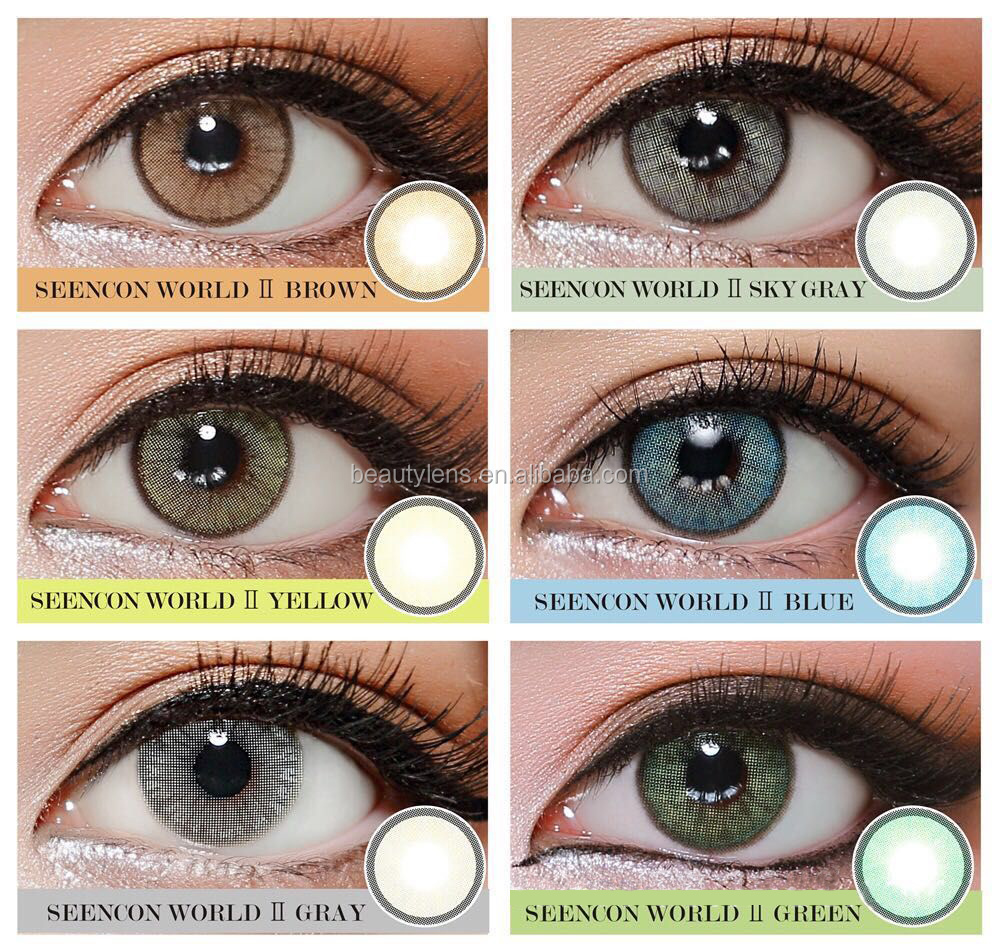 With Power Wholesale Cosmetic Soft Eye Contact Lens High
