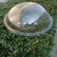 Big Clear PC Lampshade Custom Big Clear Plastic Dome Cover D450mm Factory Direct Price