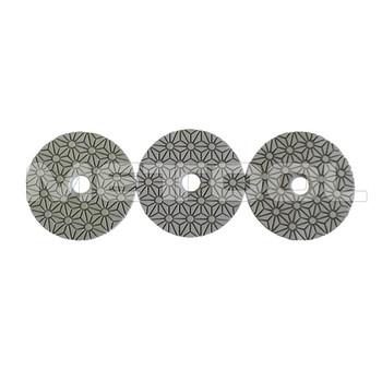 4 Inch Wet Polishing Pad 3 Step Diamond Polish Marble Floor Pads