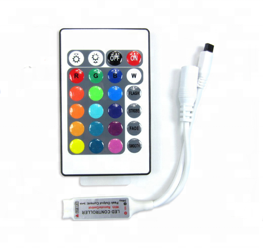 DC 12 볼트 Mini 24key Remote Controller IR RGB RGBW Led Strip DC 12 볼트 24 키 Controller 대 한 SMD 3528 5050 5630 3014 LED Strip 등
