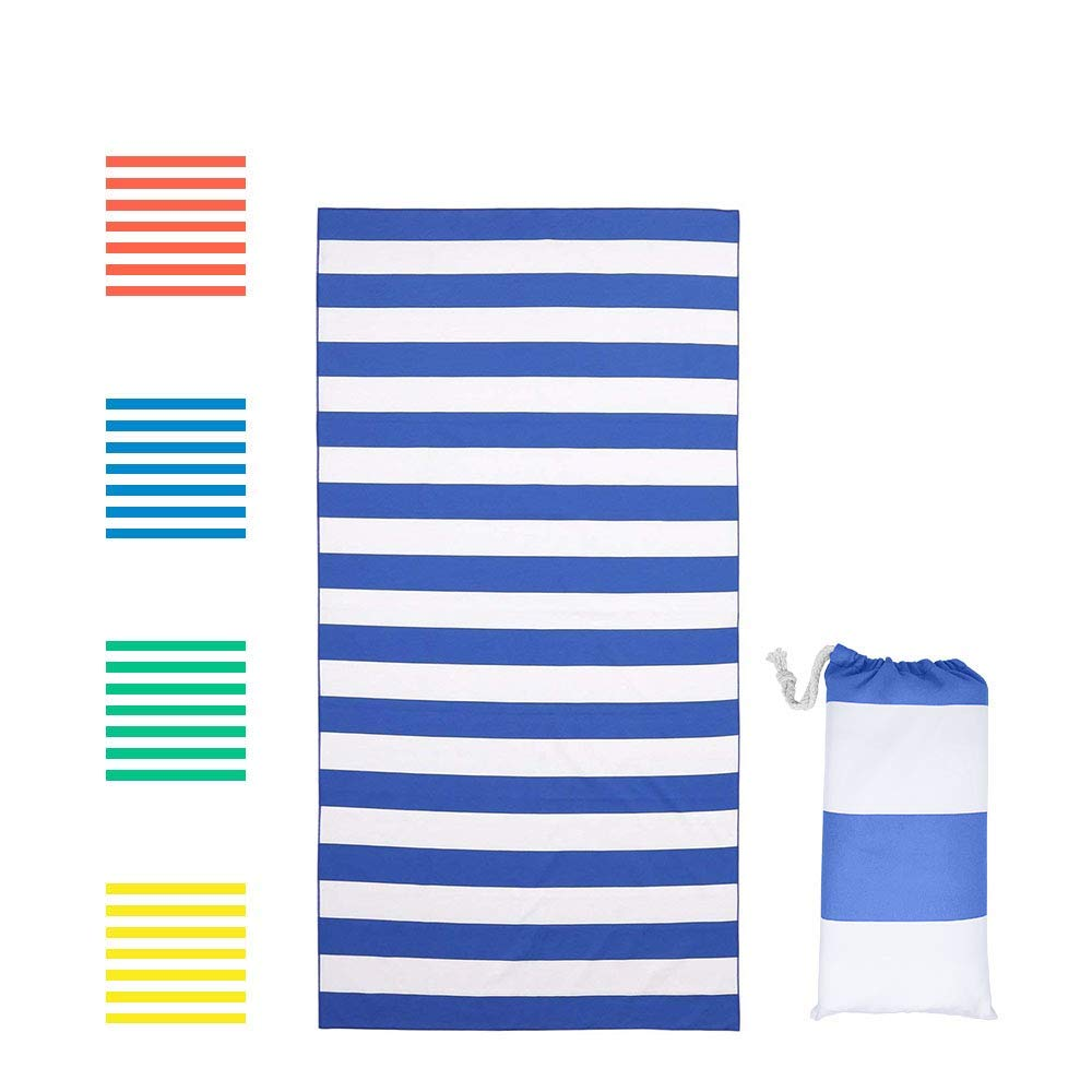 Asooll Beach Towels Microfiber Extra Large Beach Towel for Adults - Quick Dry Towel for Travel, Sand Free Beach Towel, As Bath Towels Beach Towels for Kids & Adults (Blue, 35X70 inch)