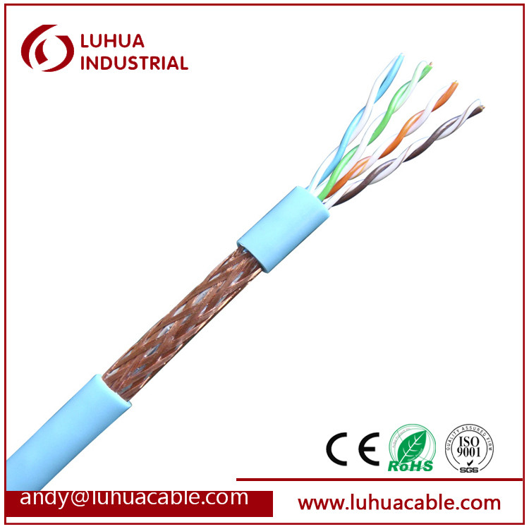 SFTP Cat6 23AWG 4 Pairs Cat6 SFTP Network Cable