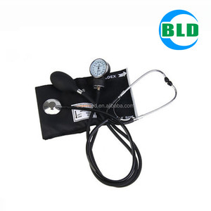 High Quality aneroid sphygmomanometer with one stethoscope / standing blood pressure monitor