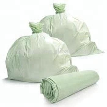 Compostable 100% biodegradable corn-starch material industrial use for big size garbage bag on roll with custom printing