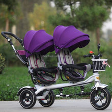 European standard stroller baby stroller bike 3 in 1 for twins with canopy
