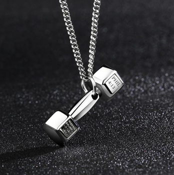 2017 trendy fitness sports dumbbell pendant necklace buy dumbbell 2017 trendy fitness sports dumbbell pendant necklace aloadofball Image collections