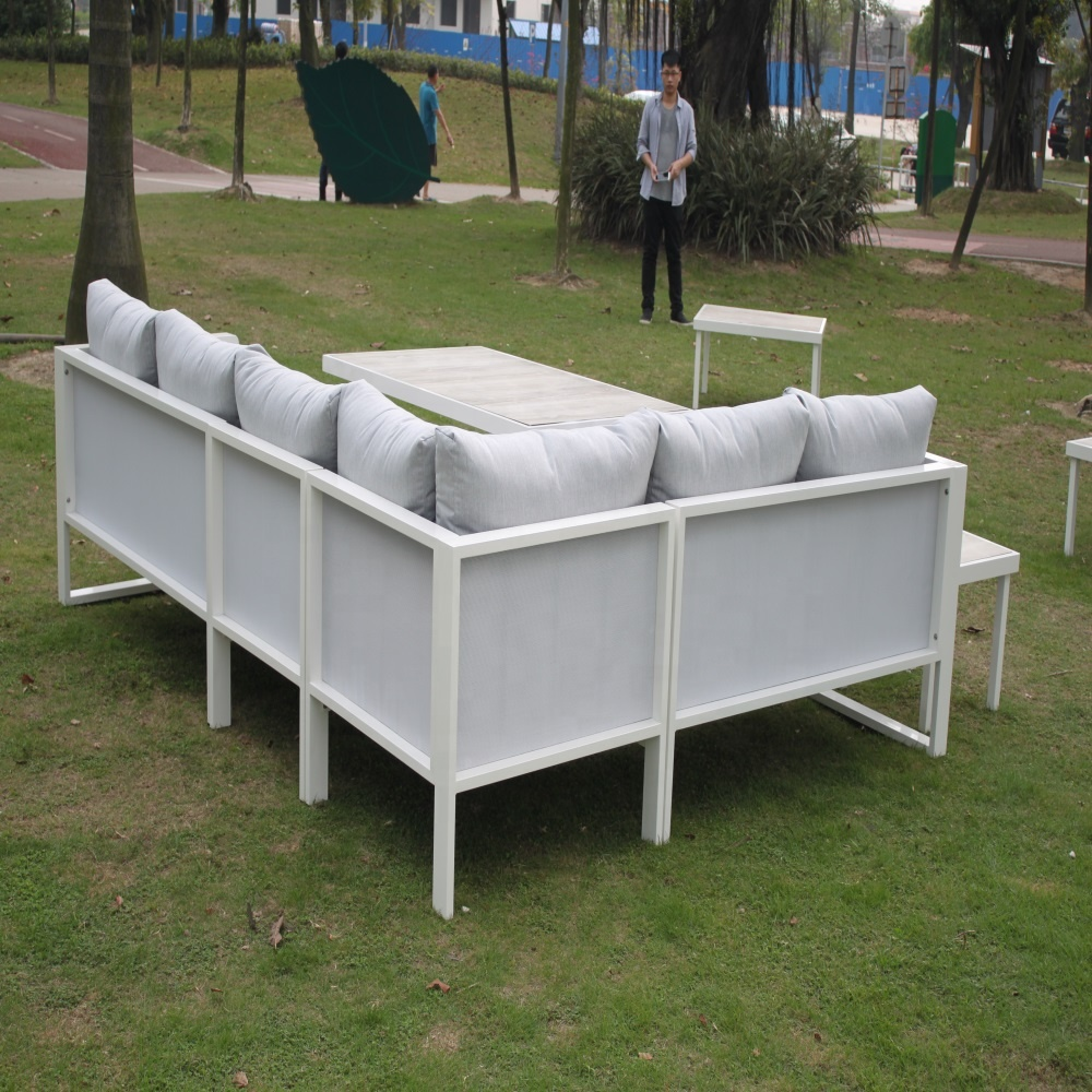 American style commerical outdoor furniture aluminum garden sectional sofa set from China factory