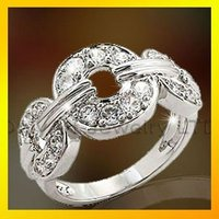 small order popular gift for women antique silver ring with high quality paypal acceptable
