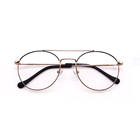 Custom Gold/Brown/Blue/Pink/Silver UNISEX Acrylic Lens Metal Stainless Eyewear Frame Optical Glasses
