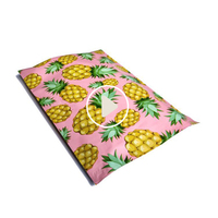 Wholesale Boutique Custom Pink Rose Designer Colored Printed Decorative Poly Mailers 10X13 Pineapple Mailing Bags