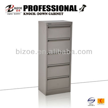 Thin Unique Light Green Metal 5 Drawer Lateral Filing Cabinet