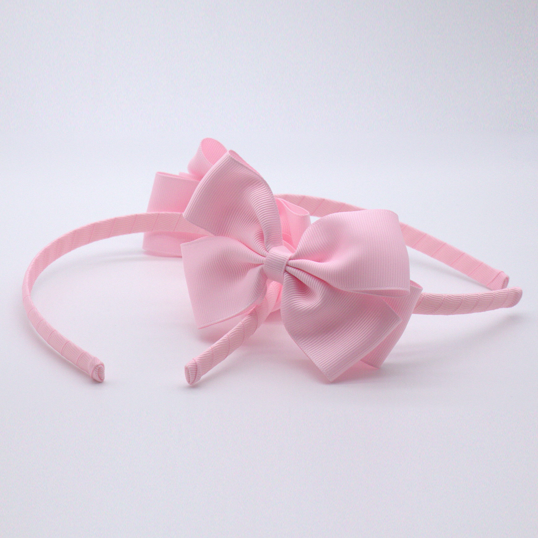 Women girls school party big bow chiffon ribbon princess hair hoop headband band