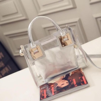 CYSHMILY Fashion Clear Purse Bag Plastic PVC Transparent Handbag for women