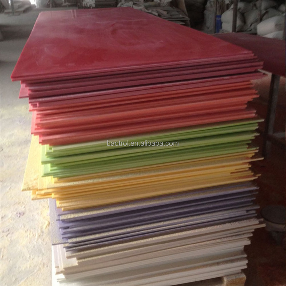 Acrylic Solid Surface Sheets Solid Colorful Granite Countertop Made