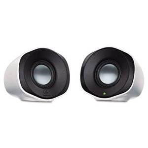 9cb87f9acba Get Quotations · Logitech - Z110 Stereo Speakers 3.5Mm Usb 2.4W 3-1/2H X