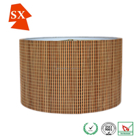 Cool creative summer half ball natural bamboo mat living room light shade