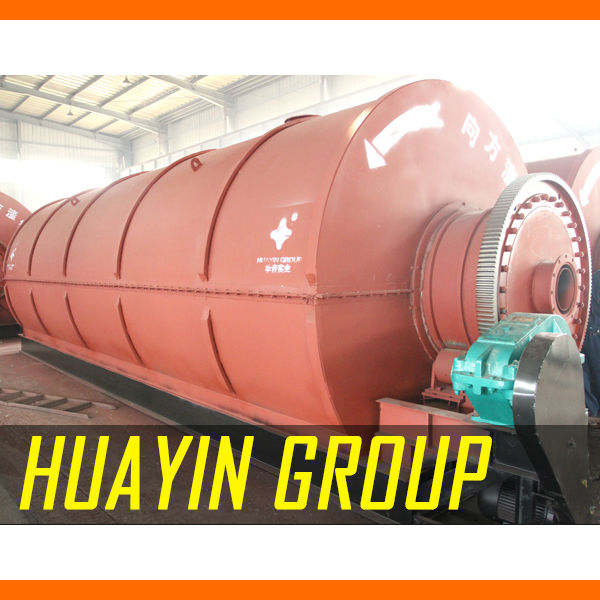 Huayin waste to crude oil / fuel oil/ diesel pyrolysis plant with low consumption