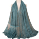 2018 New Luxury Stone Diamond Shining Lace Scarf Shawl Cotton Solid Color Muslim Hijab